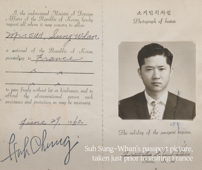 Suh Sung-Whan's passport picture, taken just prior to visiting France