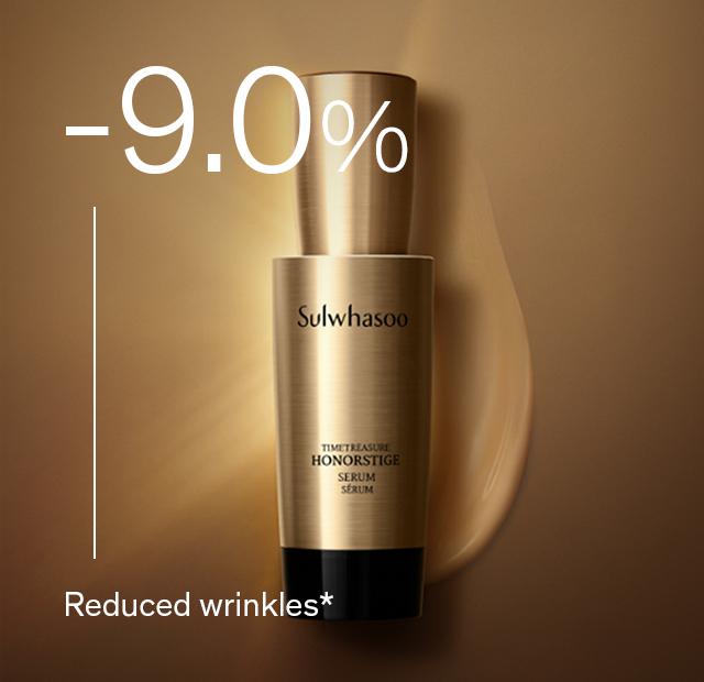 -9.0% Reduced wrinkles*