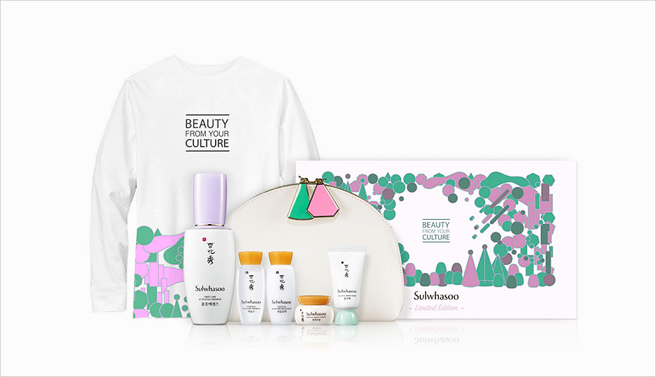 Sulwhasoo 'Beauty From Your Culture' Campaign T-shirt And Beauty From Your Culture Limited Edition First Care Activating Serum EX