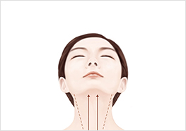 STEP5 - Lift your chin up, then gently massage your skin with a sweeping, downward motion to conclude your beauty ritual.
