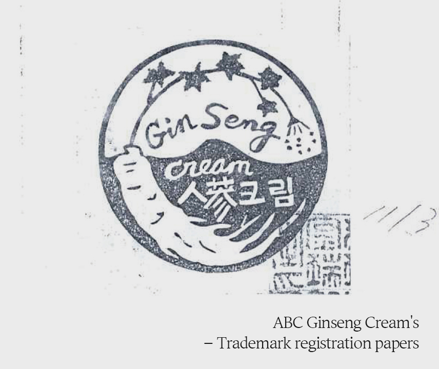 ABC Ginseng Cream's – Trademark registration papers
