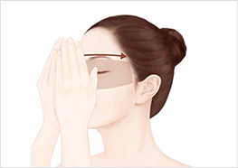STEP4 - Breathe in the fragrance for 3 seconds, then gently press your eye area, and massage the formula in.